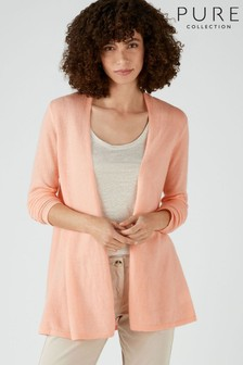 Pure Collection Pink Gassato Swing Cardigan
