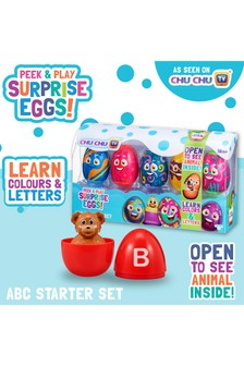 ChuChu TV Peek & Play Surprise Eggs - ABC Starter Set