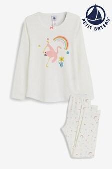 Petit Bateau White Graphic Print Pyjamas