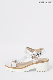 River Island Silver Clumpy Sandals