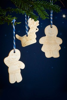 Set of 3 Gingerbread Wooden Air Fresheners