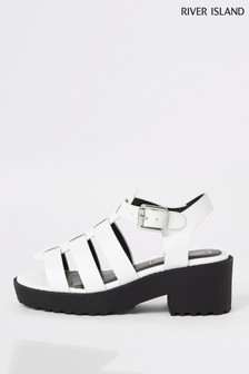 River Island White Gladiator Clumpy Sandals