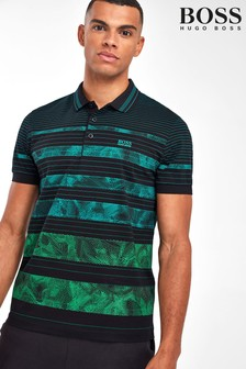 BOSS Black Paddy 7 Gradient Stripe Polo