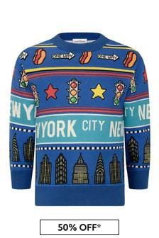 Boys Blue Cotton New York City Sweater