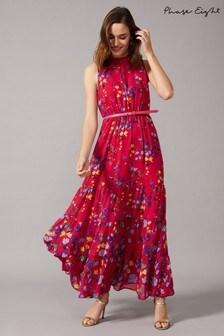 Phase Eight Pink Henrietta Tiered Maxi Dress