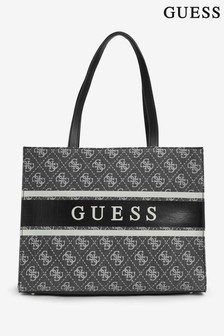 Guess Black Monique Logo Tote Bag