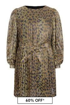 Marc Jacobs Girls Gold Cheetah Print Dress