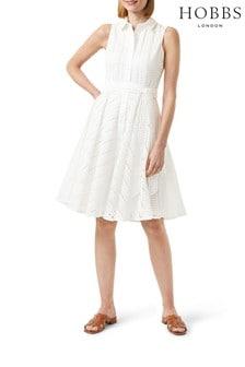 Hobbs White Emelie Dress