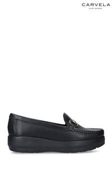 Carvela Black Chaz Leather Loafers