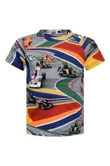 Baby Boys Multicoloured Full Speed Organic Cotton T-Shirt