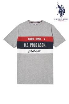 U.S. Polo Assn. Grey Graphic T-Shirt
