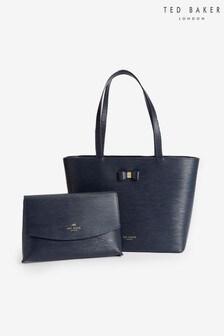 Ted Baker Blue Deannah Bow Detail Shopper Bag