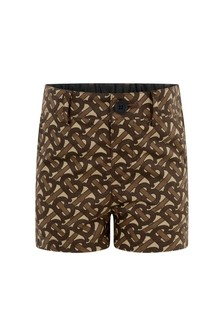 Baby Boys Brown Bridle Cotton Shorts