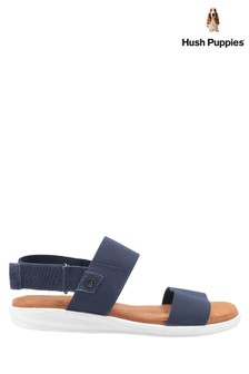 Hush Puppies Blue Ashley Touch Fastening Strap Sandals