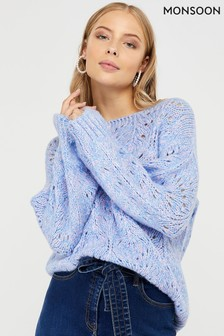 Monsoon Maisie Pretty Pointelle Jumper