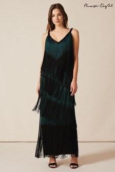 Phase Eight Black Tina Tassel Dress