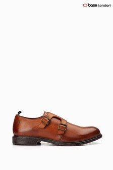 Base London® Tan Shale Double Monk Strap Shoes