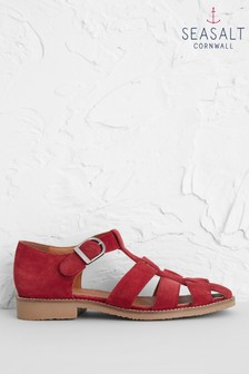 Seasalt Red Summer Sailing Shoes