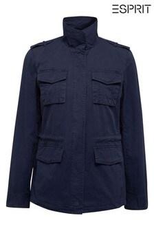 Esprit Blue Light Denim Parka Jacket