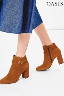 Oasis Tan Fifi Leather Boots