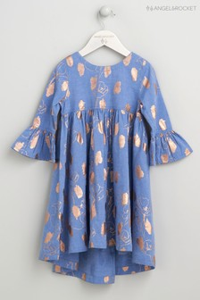Angel & Rocket Blue Foil Print Dress