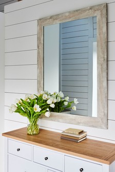 Rustic Wood Effect Mirror