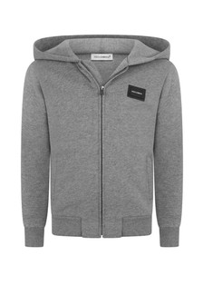Boys Grey Zip Up Top