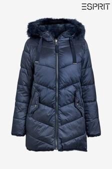 Esprit Blue Reversible Faux Fur Jacket