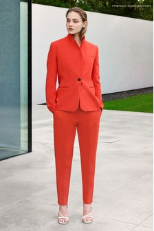 French Connection Red Adisa Sundae Tailored Trousers