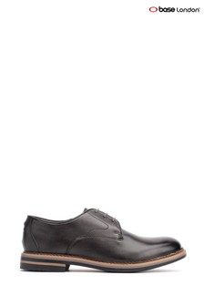 Base London® Grey Wayne Burnished Lace-Up Shoes