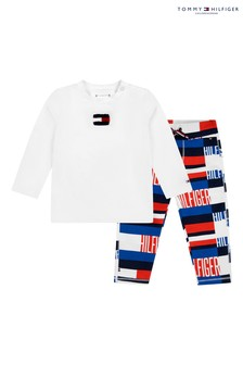 Tommy Hilfiger Red Baby Printed Long Sleeve Set