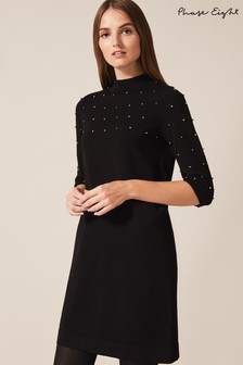 Phase Eight Black Selina Scattered Ball Dress