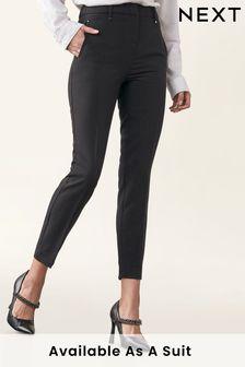 Elastic Back Skinny Leg Trousers