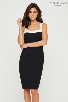 Damsel In A Dress Black Vida Colourblock Dress