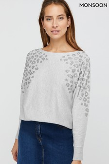 Monsoon Grey Hetty Sustainable Jumper