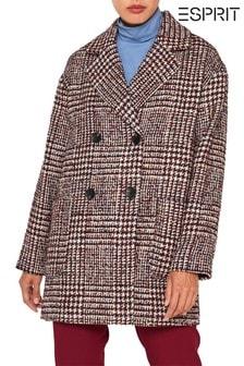 Esprit Red Woven Coat