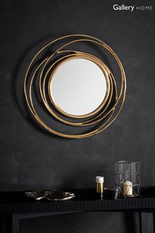 Allende Satin Gold Mirror by Gallery Direct