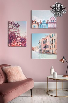 Pretty Pastel Skyline Wall Art by Art For The Home