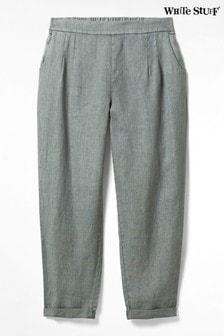 White Stuff Green Gowan Linen Trousers