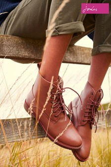 Joules Brown Clarence Lace-Up Boots