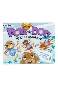 Melissa and Doug Poke-A-Dot 10 Little Monkeys Interactive Book