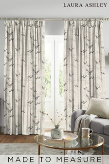 Laura Ashley Animalia Silver Made to Measure Curtains