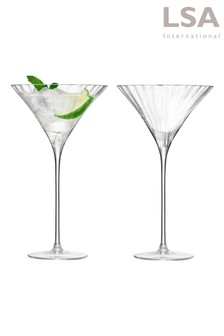 Set of 2 Aurelia Optic Cocktail Glasses by LSA International