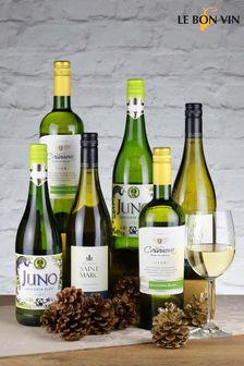 Set of 6 World Sauvignon Blanc White Wine Selection by Le Bon Vin