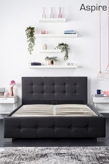 Aspire End Lift Ottoman Fabric Bed Frame