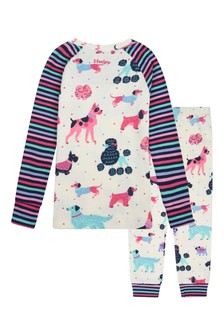 Girls Organic Cotton Cream Pyjamas