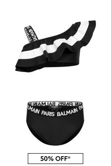 Balmain Girls Black Bikini