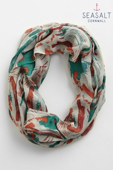 Seasalt Orange Pretty Circle Scarf