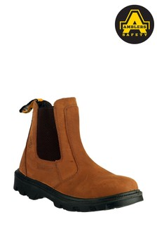Amblers Safety Brown FS131 Water Resistant Pull-On Safety Dealer Boots