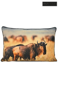 Wildebeest Cushion by Riva Home